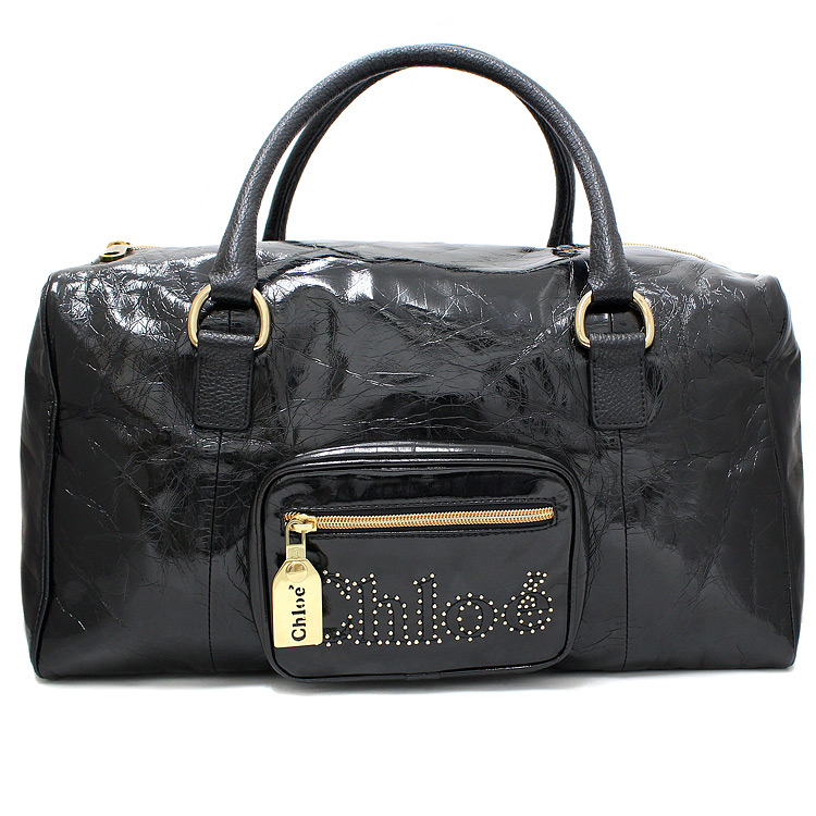 Chloe Patent Leather Boston Bag Handbag | eBay
